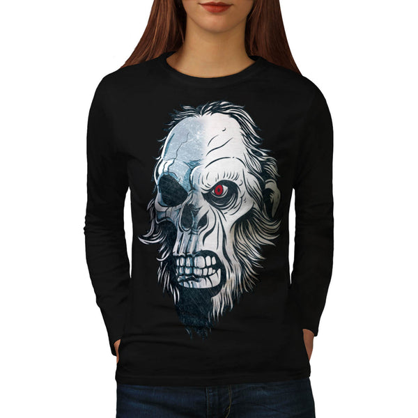 Skull Head Beast Art Womens Long Sleeve T-Shirt