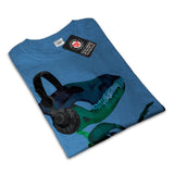 Dinosaur Headphone Womens T-Shirt