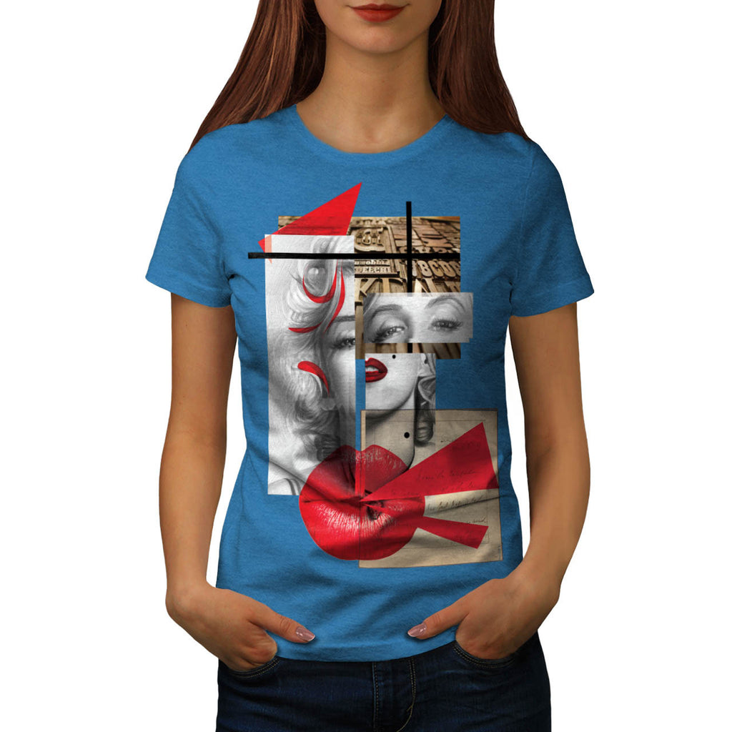 Merilyn Monroe Kiss Womens T-Shirt