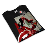 Women Red Lip Fashion Mens T-Shirt