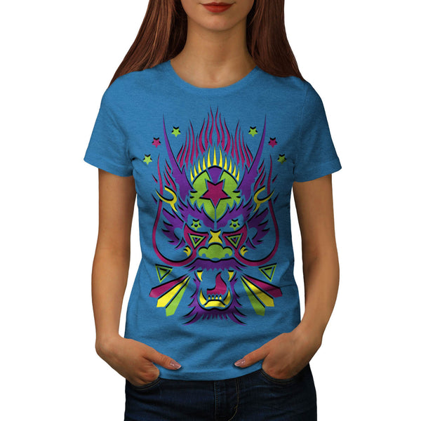 Dragon Monster Head Womens T-Shirt