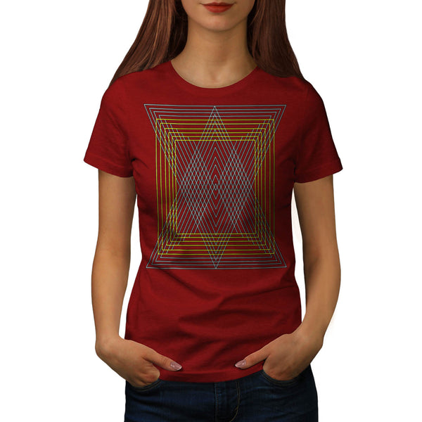 Triangle Square Shape Womens T-Shirt