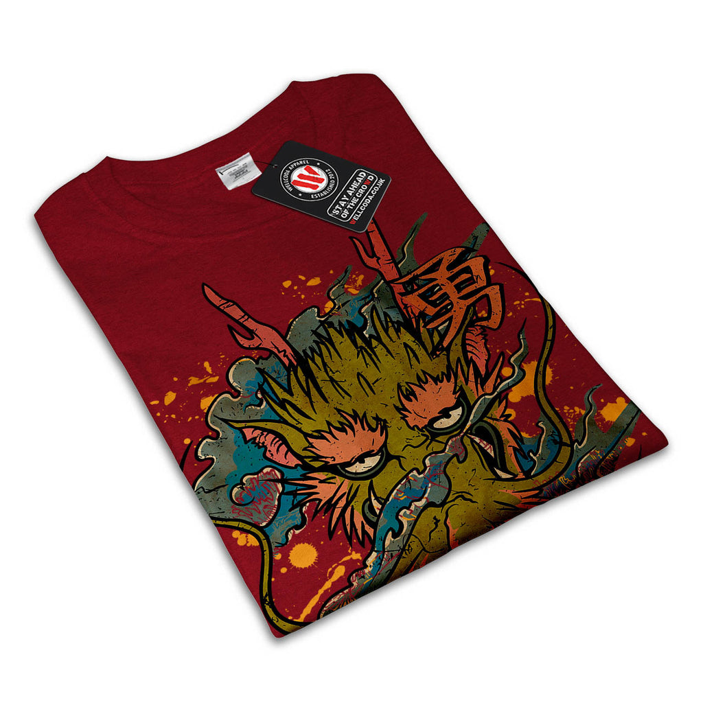 Oriental Dragon Head Womens T-Shirt