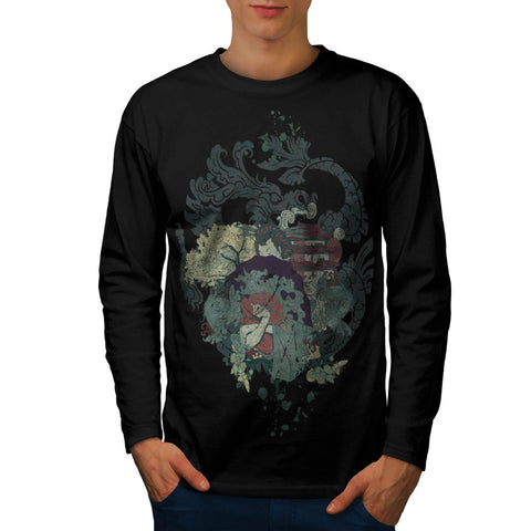 Dragon Japan Geisha Mens Long Sleeve T-Shirt