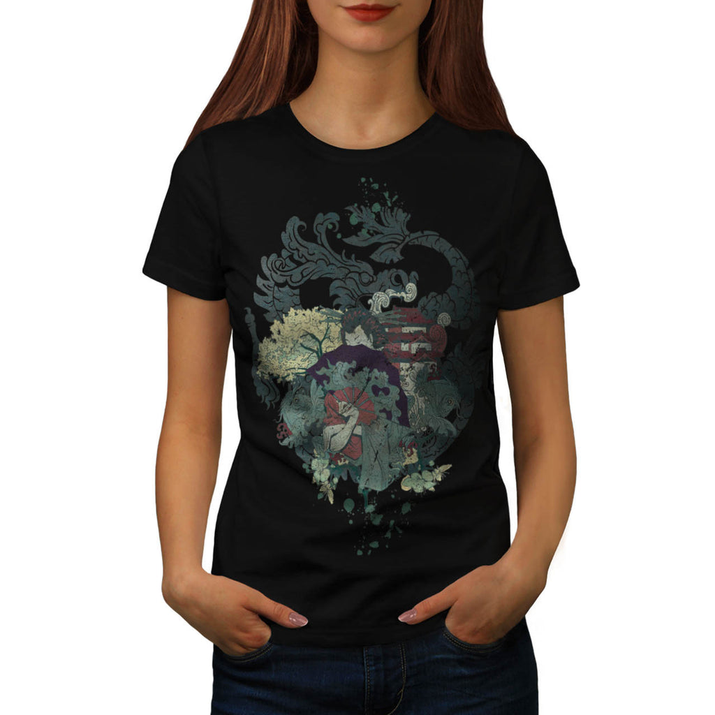 Dragon Japan Geisha Womens T-Shirt