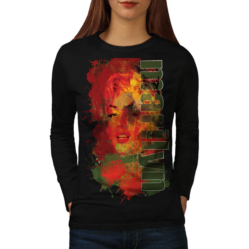 Marilyn Monroe Beauty Womens Long Sleeve T-Shirt