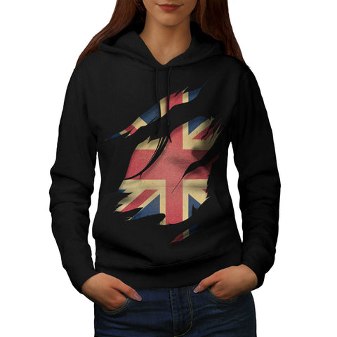 United Kingdom Flag Womens Hoodie