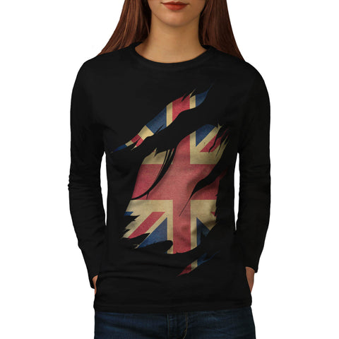 United Kingdom Flag Womens Long Sleeve T-Shirt