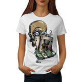 Skull Head Gambling Womens T-Shirt