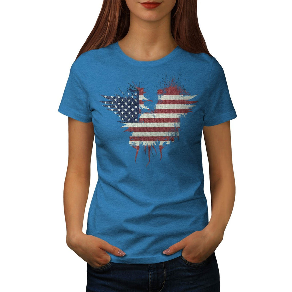 American Eagle Flag Womens T-Shirt