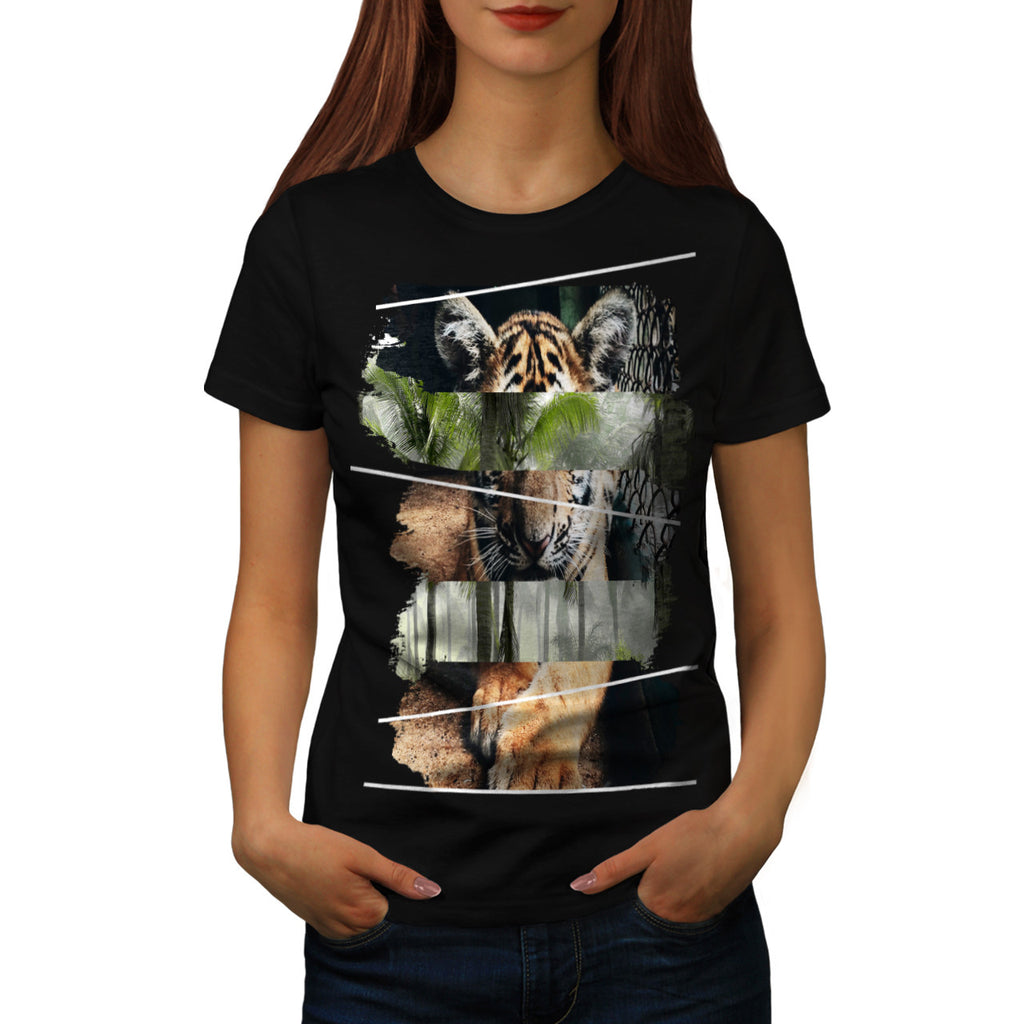 Tiger Lion Jungle Womens T-Shirt