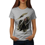 Rib Cage Love UK Womens T-Shirt