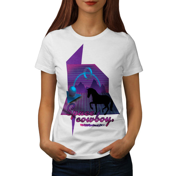 Space Galaxy Cowboy Womens T-Shirt