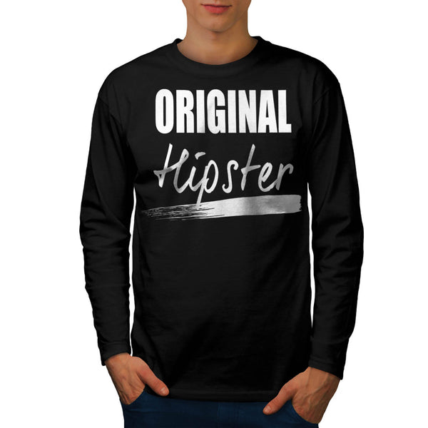 The Original Hipster Mens Long Sleeve T-Shirt