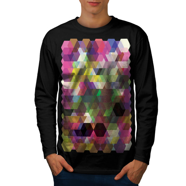 Polygon Colour Shape Mens Long Sleeve T-Shirt