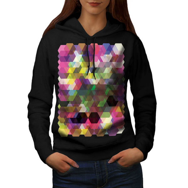 Polygon Colour Shape Womens Hoodie