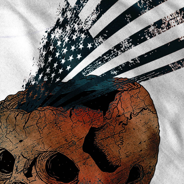 American Indian Skull Womens T-Shirt