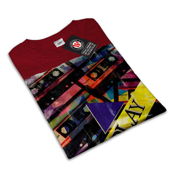 Tape Cassette Play Womens T-Shirt