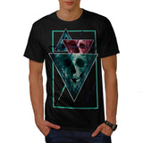 Scary Horror Skull Mens T-Shirt