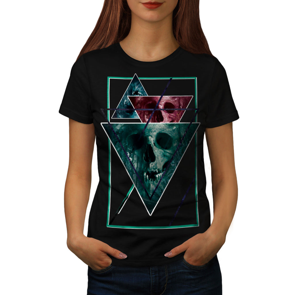 Scary Horror Skull Womens T-Shirt