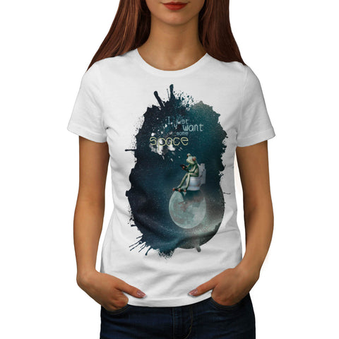 Space Universe Frog Womens T-Shirt
