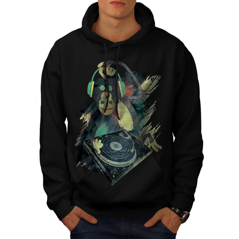Animal Monkey Music Mens Hoodie