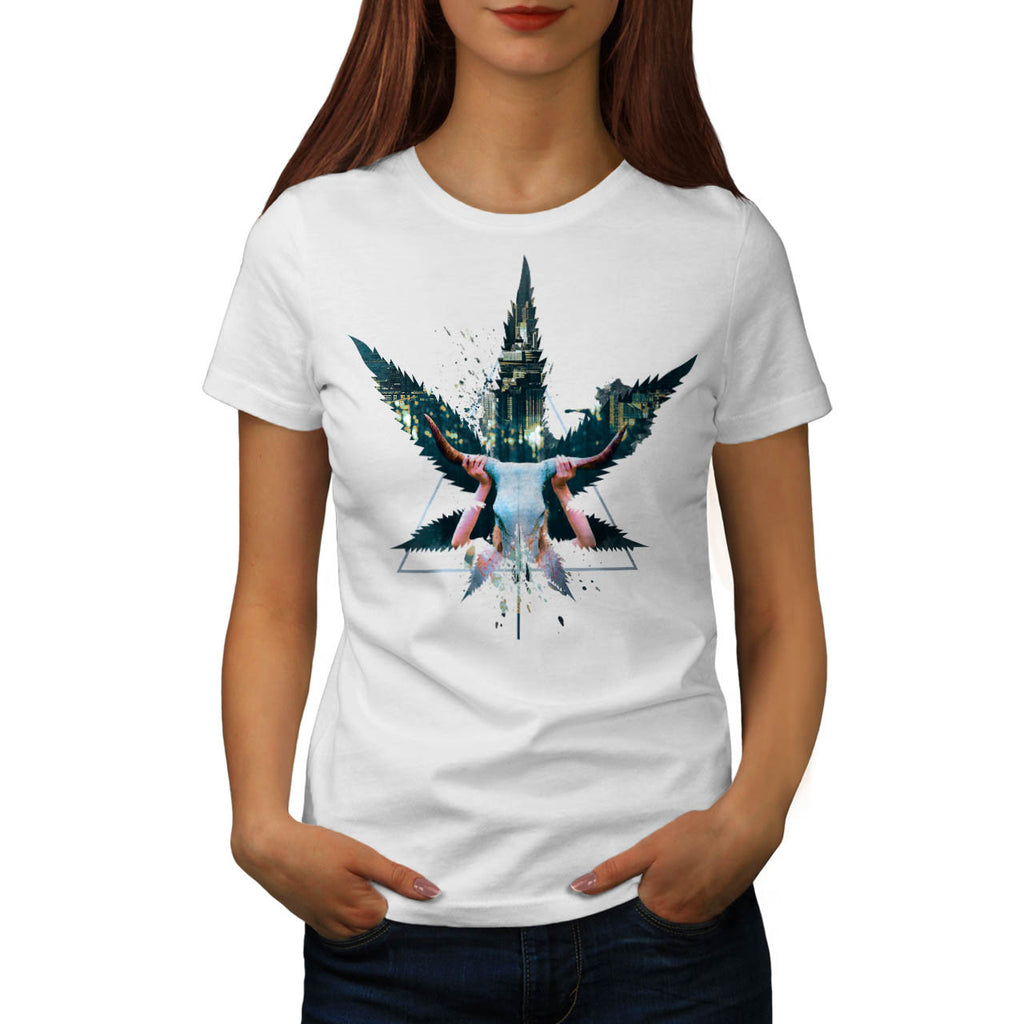 Cannabis City Night Womens T-Shirt