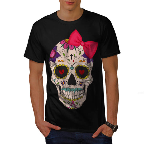 Skull Sugar Head Art Mens T-Shirt