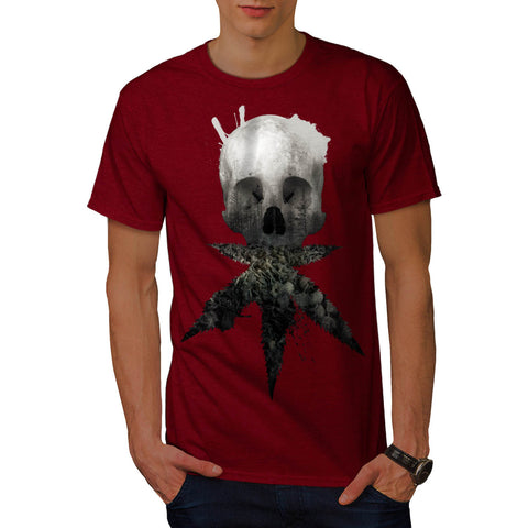 Skull Cannabis Face Mens T-Shirt