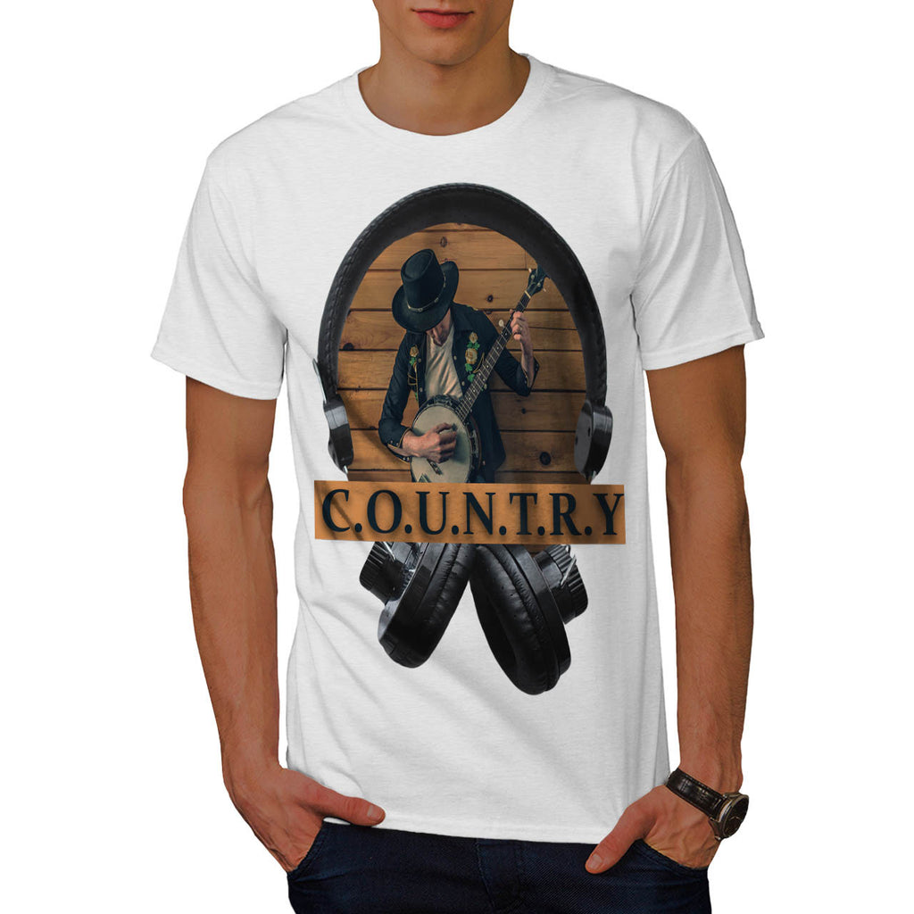 Country Headphone Mens T-Shirt