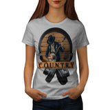 Country Headphone Womens T-Shirt