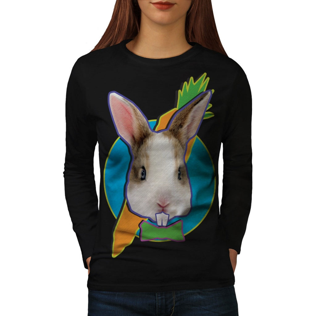 Animal Bunny Rabbit Womens Long Sleeve T-Shirt