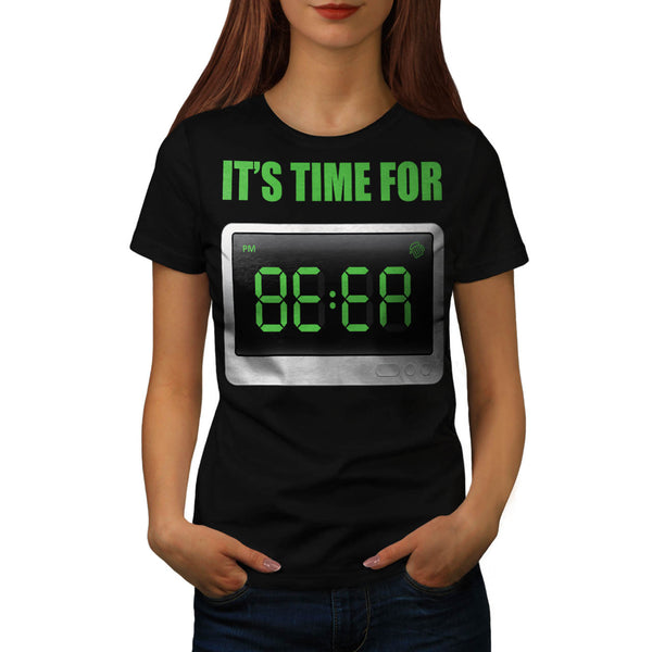 Fun Beer Time Clock Womens T-Shirt