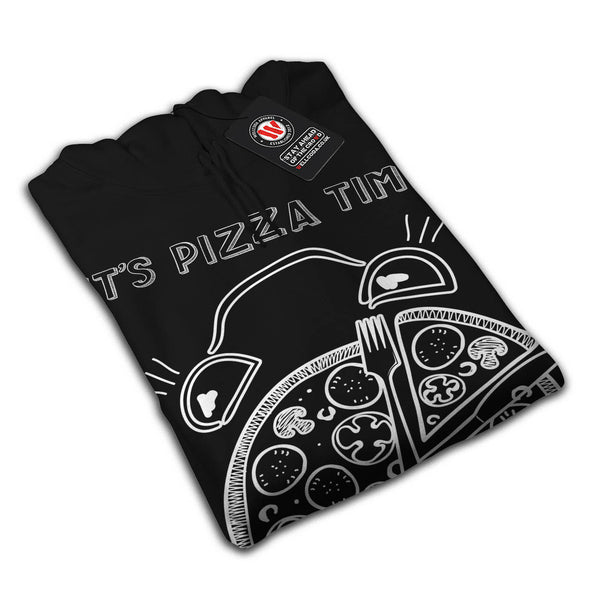Pizza Time Clock Eat Mens Hoodie