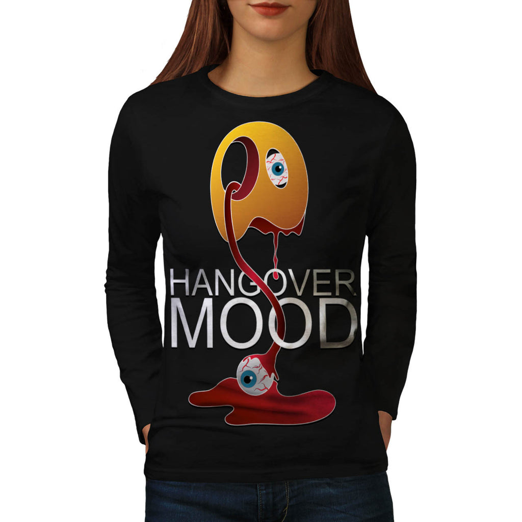 Hangover Mood Monster Womens Long Sleeve T-Shirt