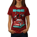 Xmas Ride Santa Claus Womens T-Shirt
