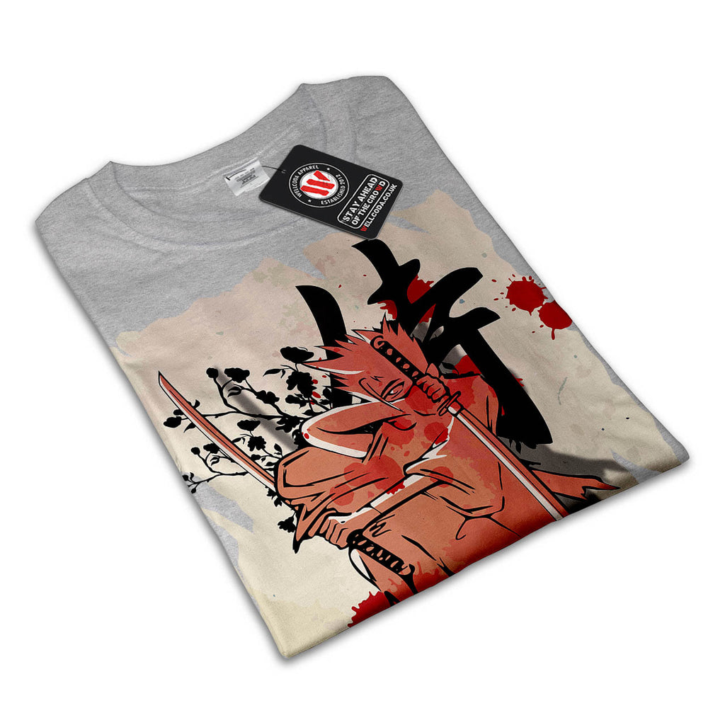 Japan Fighter Samurai Womens T-Shirt