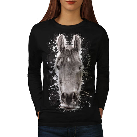 Animal Horse Nature Womens Long Sleeve T-Shirt