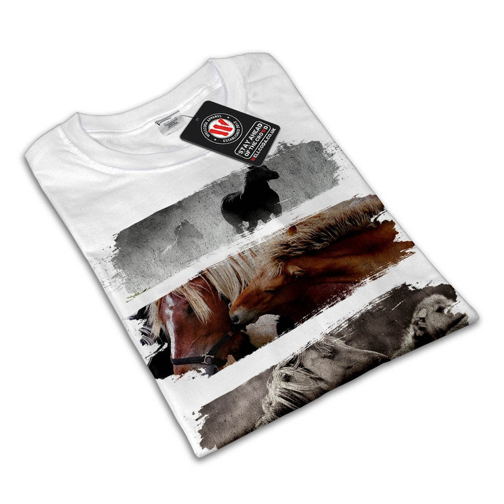 Animal Horse Family Mens T-Shirt