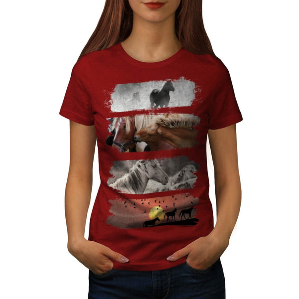 Animal Horse Family Womens T-Shirt