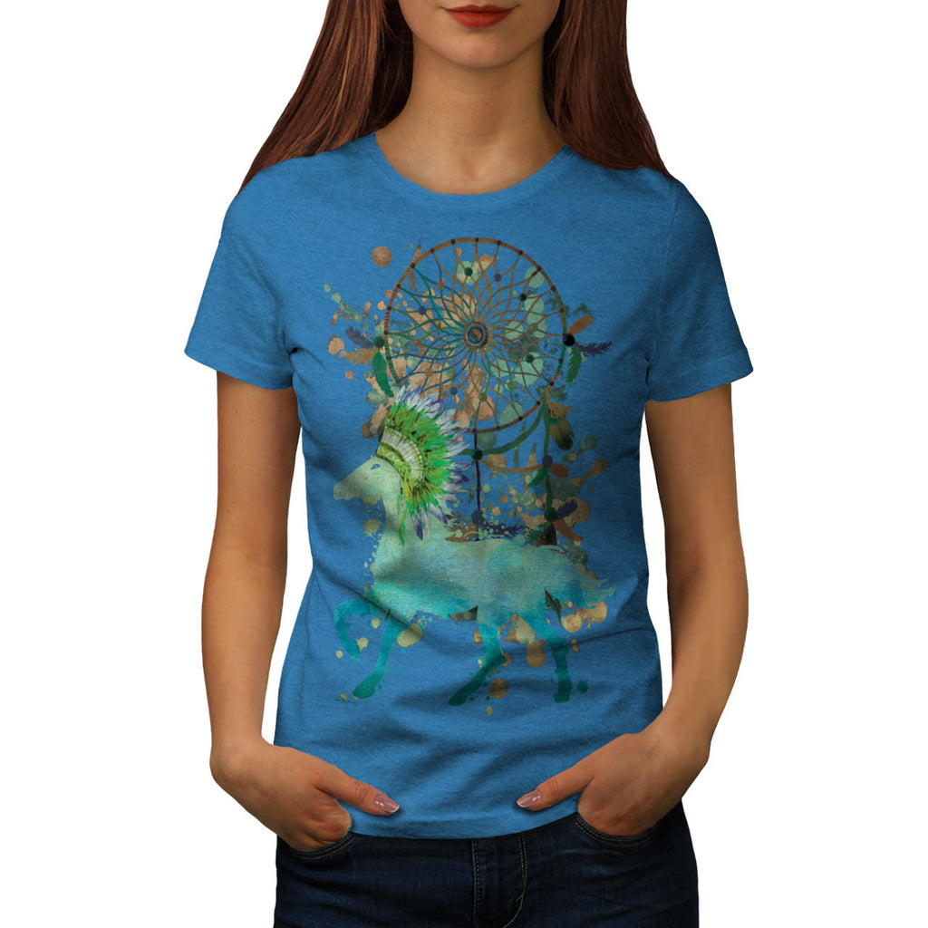 Native Animal Horse Womens T-Shirt