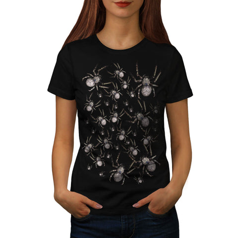 Spider Spooky Fear Womens T-Shirt