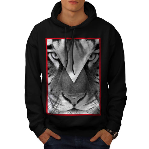Amazing Tiger Cat Face Mens Hoodie