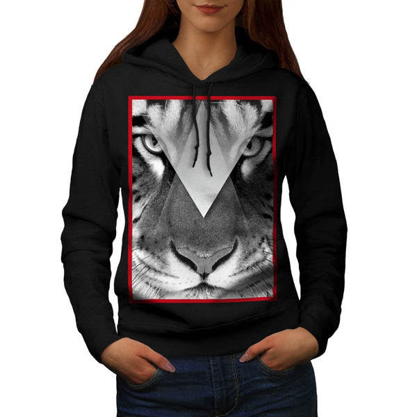 Amazing Tiger Cat Face Womens Hoodie