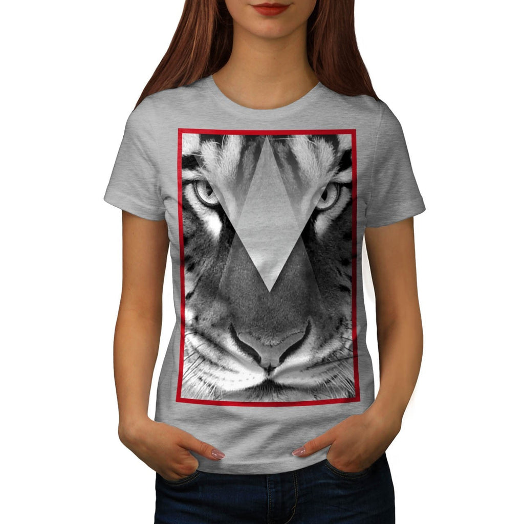 Amazing Tiger Cat Face Womens T-Shirt