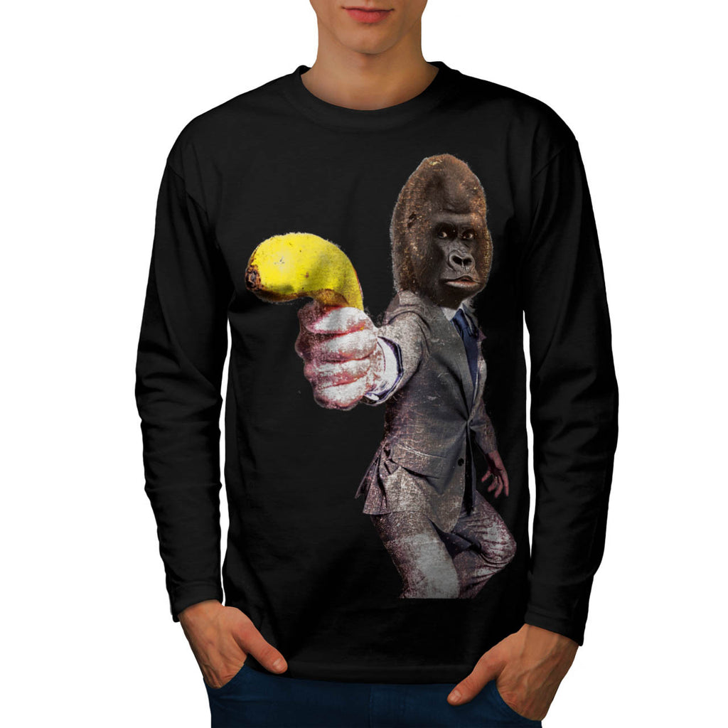Funny Gorilla Suit Mens Long Sleeve T-Shirt