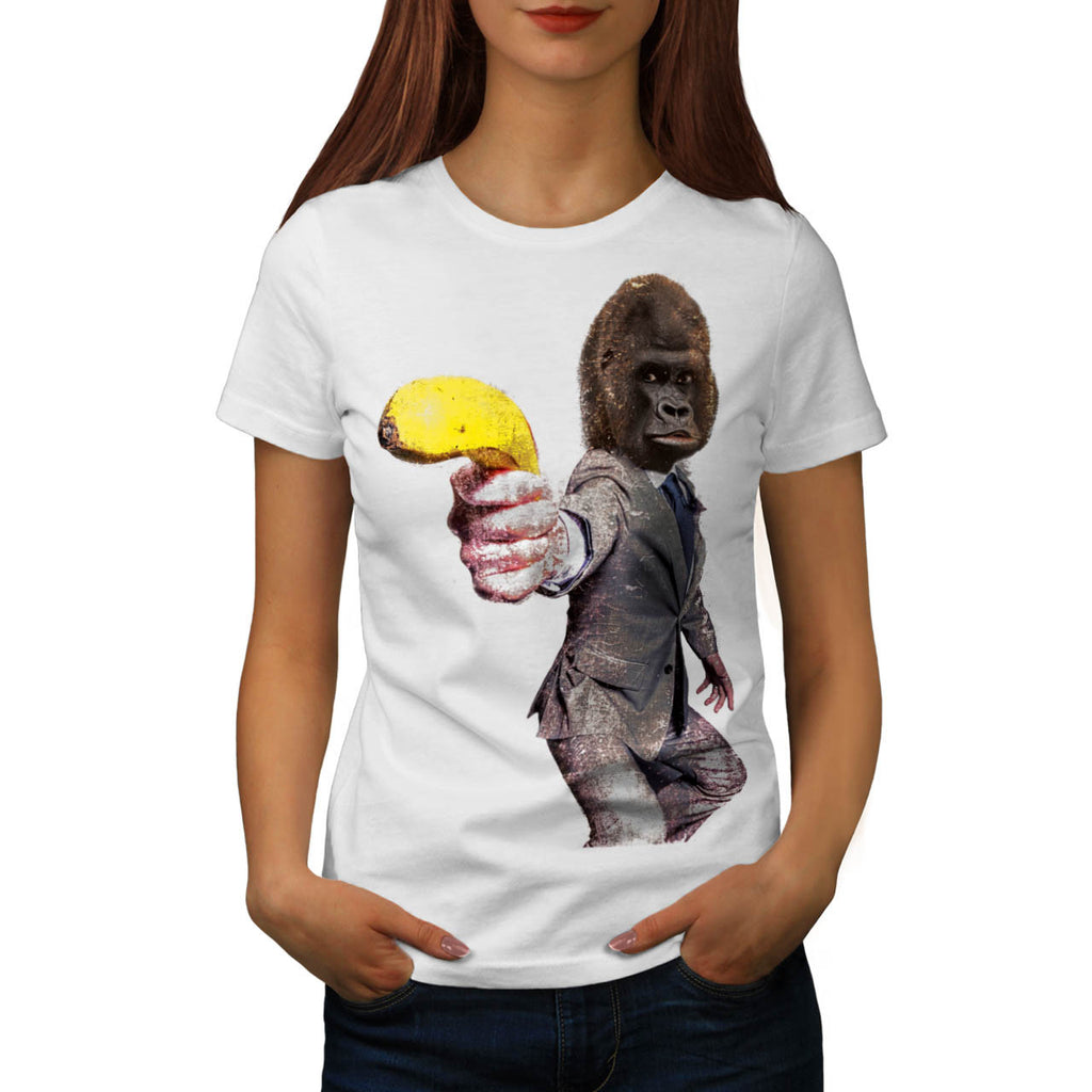 Funny Gorilla Suit Womens T-Shirt