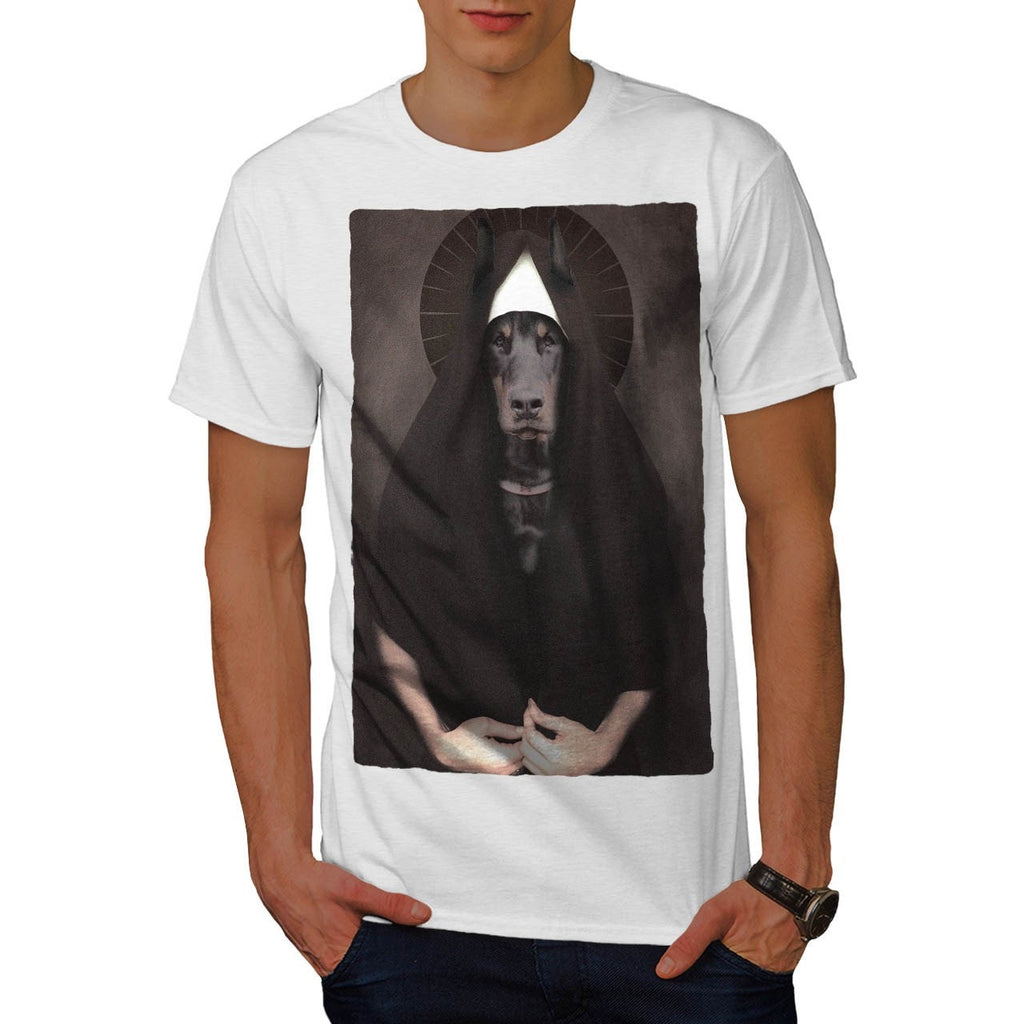 Animal Dog Sister Nun Mens T-Shirt