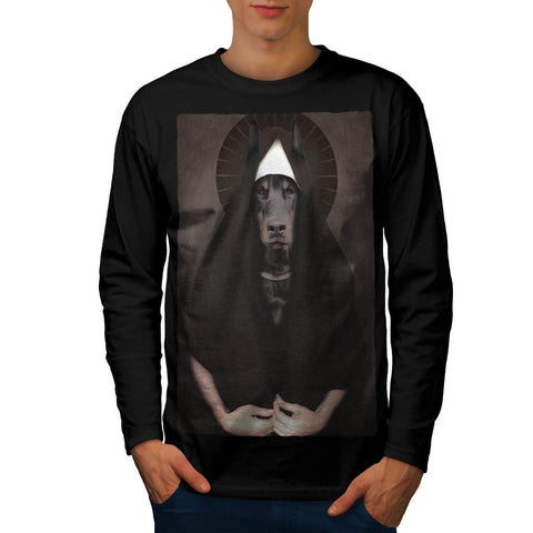 Animal Dog Sister Nun Mens Long Sleeve T-Shirt
