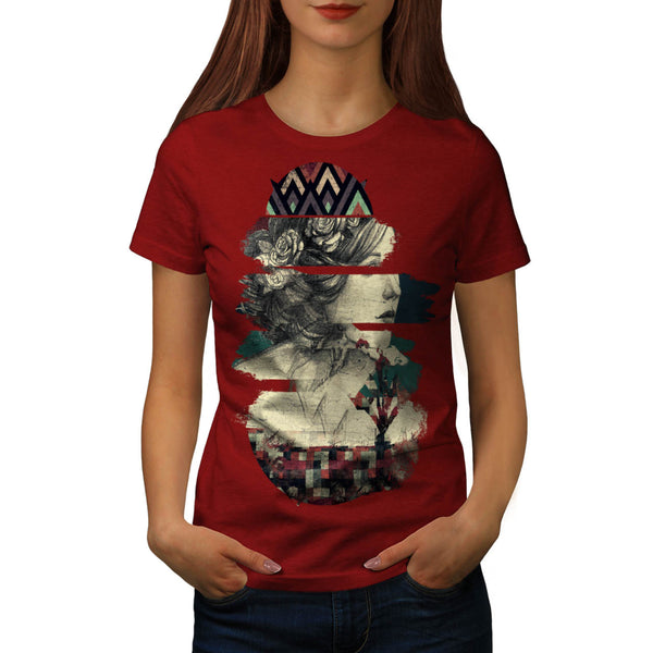 Statue Of Rome Print Womens T-Shirt
